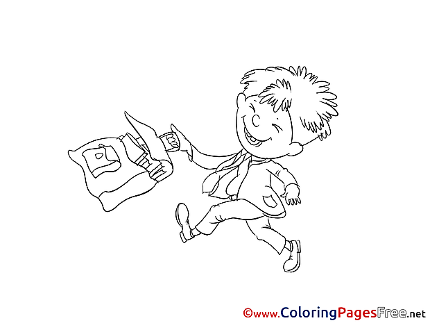 Pupil Boy for free Coloring Pages download