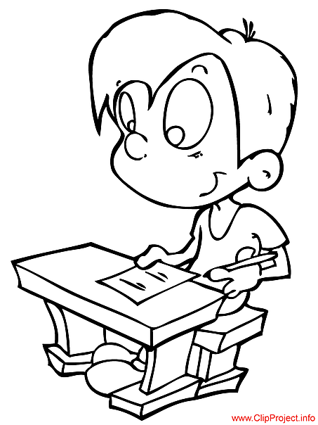 Pupil coloring page free