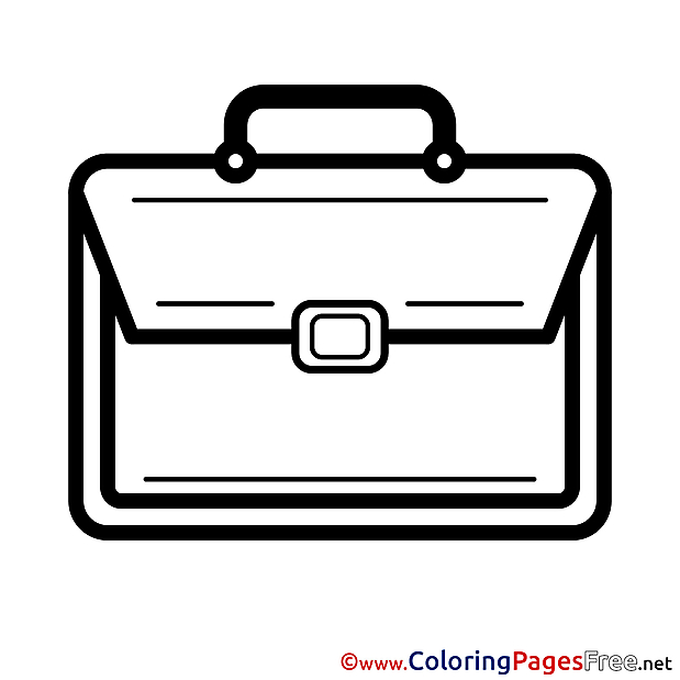 Schoolbag Colouring Page printable free