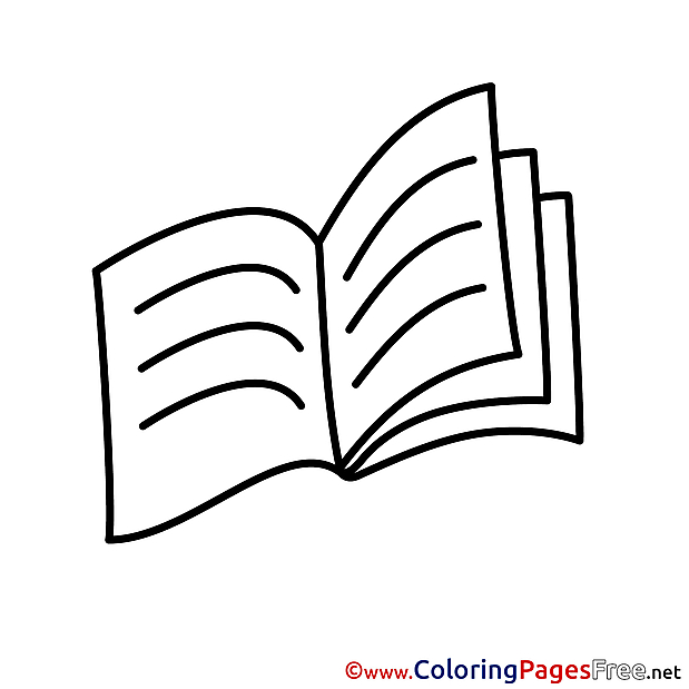 Textbook printable Coloring Sheets download