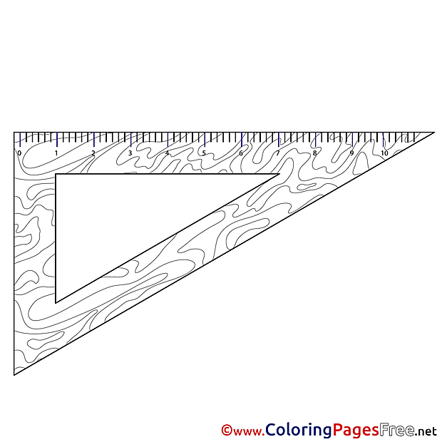 Triangle Coloring Pages School for free