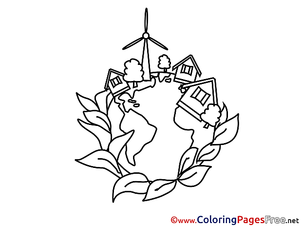 Village School Children Coloring Pages free