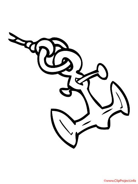 Anchor coloring sheet