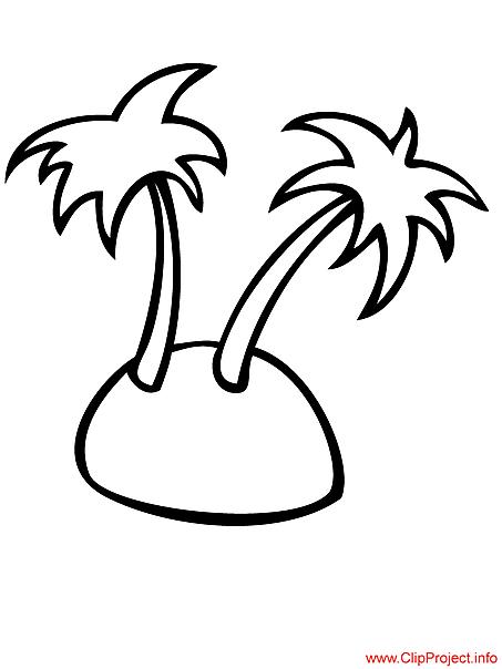 Palms coloring sheet free