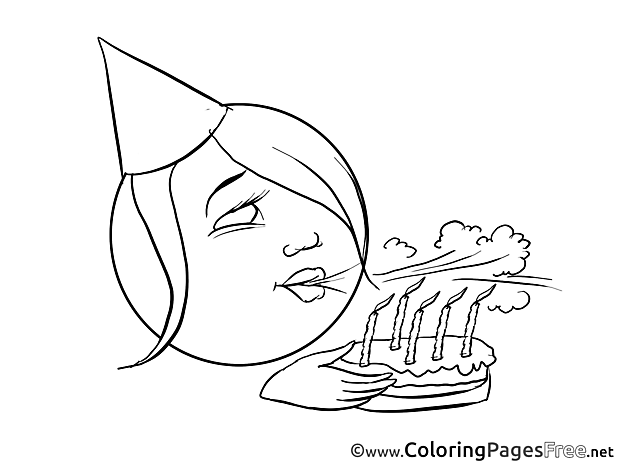 Anniversary free Colouring Page Smiles