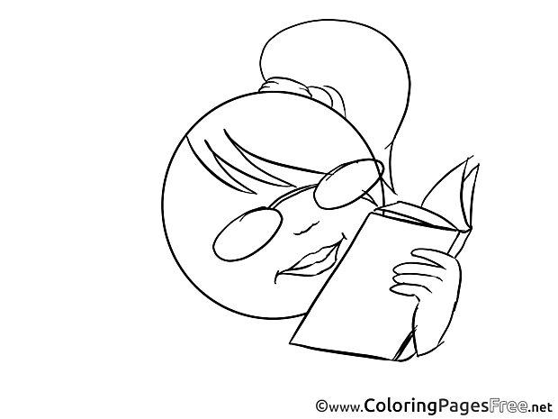 Book Smiles Coloring Pages download