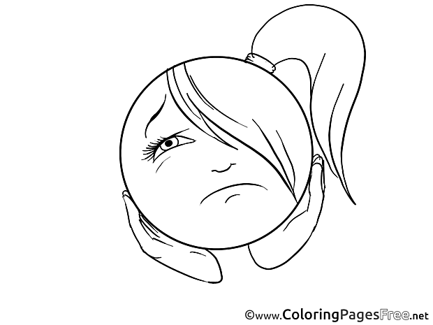 Boredom Kids Smiles Coloring Page
