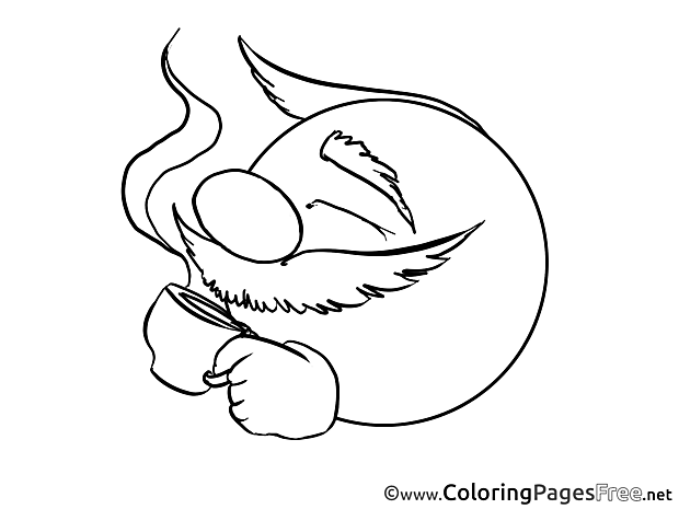 Coffee download Smiles Coloring Pages