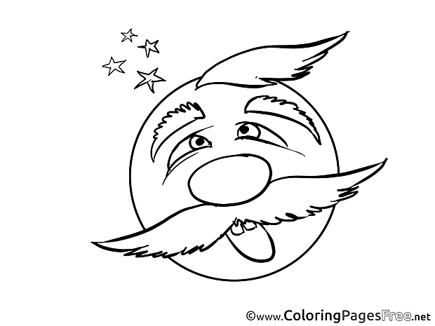 Confuse Children Smiles Colouring Page