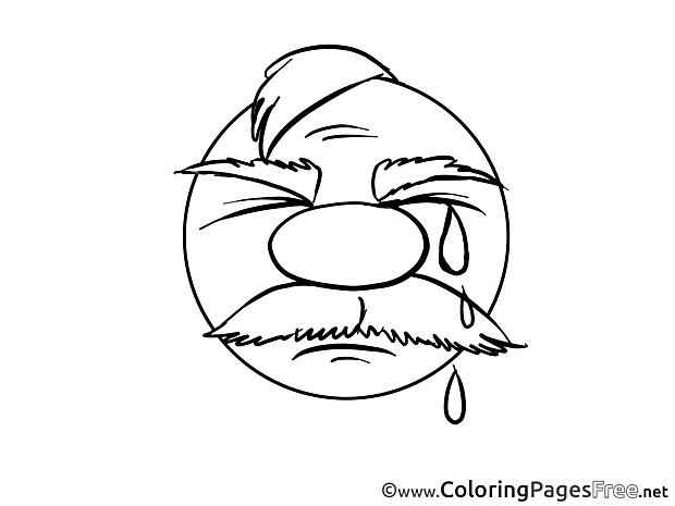 Cry printable Smiles Coloring Sheets