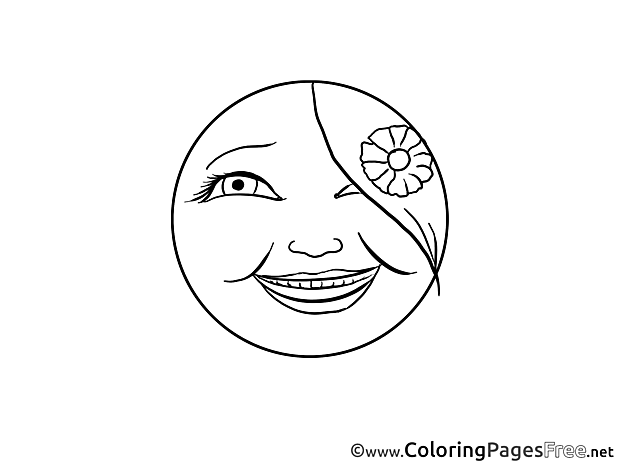 Emotion free Colouring Page Smiles