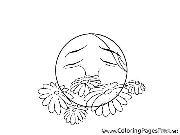 Flowers Coloring Sheets Smiles free