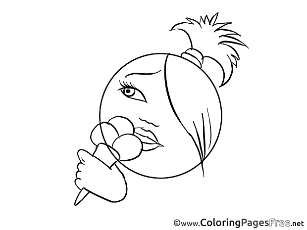 Ice Cream Colouring Sheet download Smiles