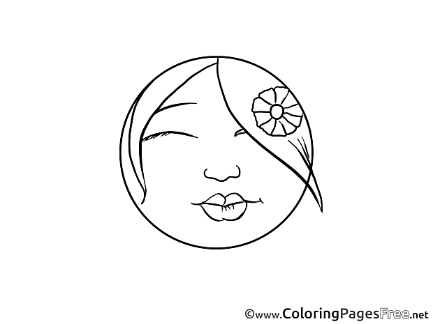 Kiss Kids Smiles Coloring Pages