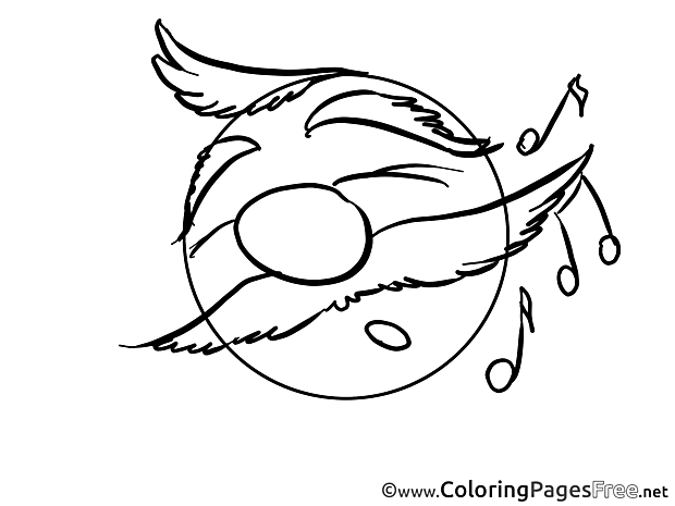 Music free Smiles Coloring Sheets