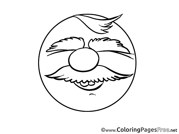 Smiling Man Coloring Pages Smile for free