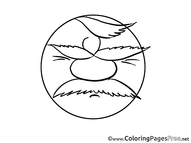 Upset Man Smiles Coloring Pages download