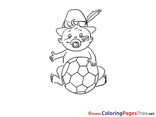 Baby Colouring Sheet download Soccer