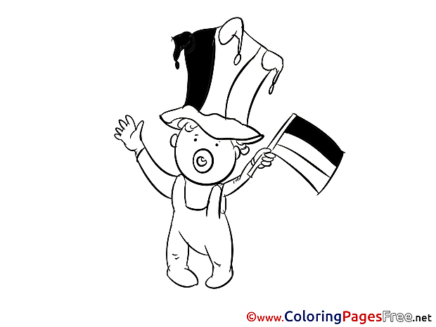 Baby Fan Coloring Pages Soccer for free