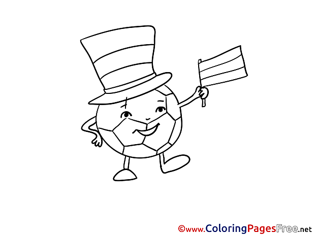 Ball Hat Coloring Pages Soccer for free