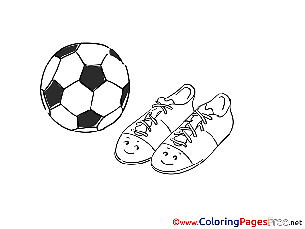 Boots Coloring Sheets Soccer free