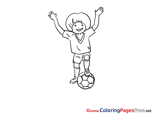 Boy download Soccer Coloring Pages