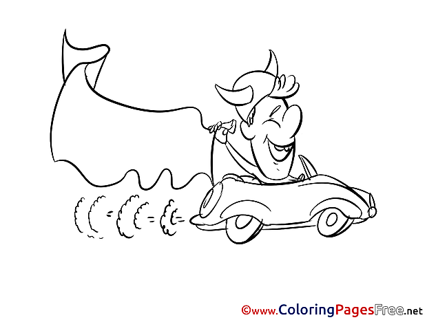 Car Fan Colouring Sheet download Soccer