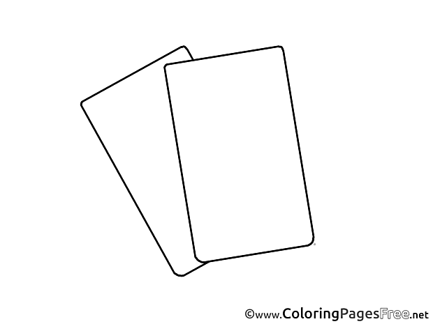 Cards Colouring Page Soccer free