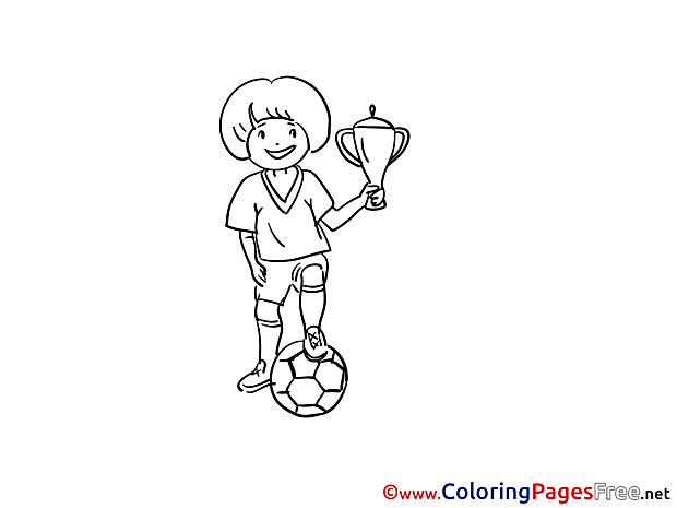 Champion Soccer Coloring Pages download
