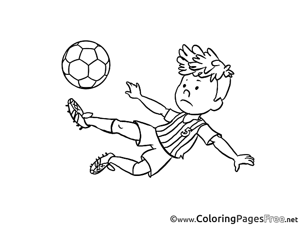 Child Ball download Soccer Coloring Pages