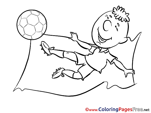 Child Kick download Soccer Coloring Pages