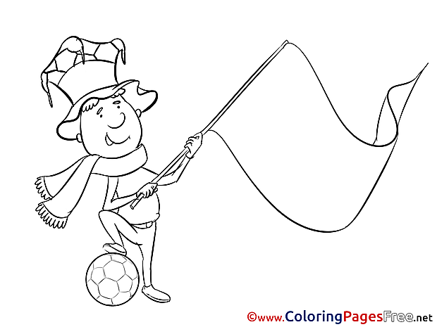 Coloring Pages Albania Supporter Soccer for free