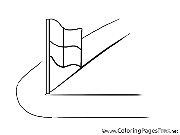 Corner Flag for Kids Soccer Colouring Page