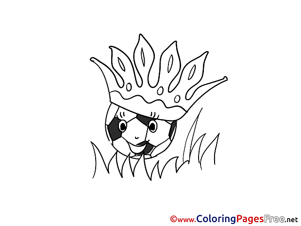 Crown Ball Soccer free Coloring Pages