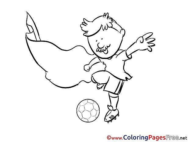 Defender Footballer Colouring Sheet Soccer