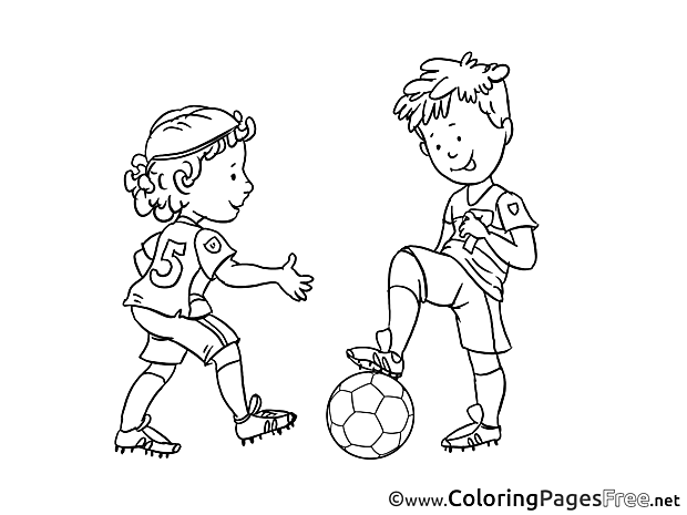 Fair Play printable Soccer Coloring Sheets