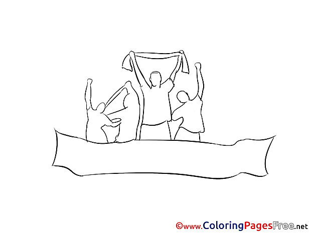 Fans Kids Soccer Coloring Page