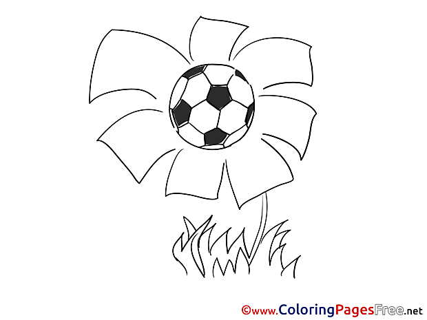 Flower Ball Kids Soccer Coloring Pages