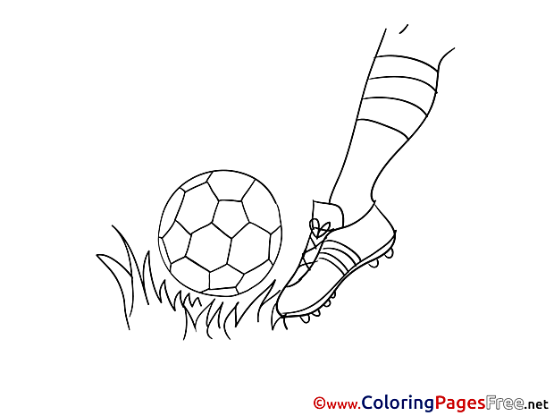 Foot Colouring Sheet Kick download Soccer
