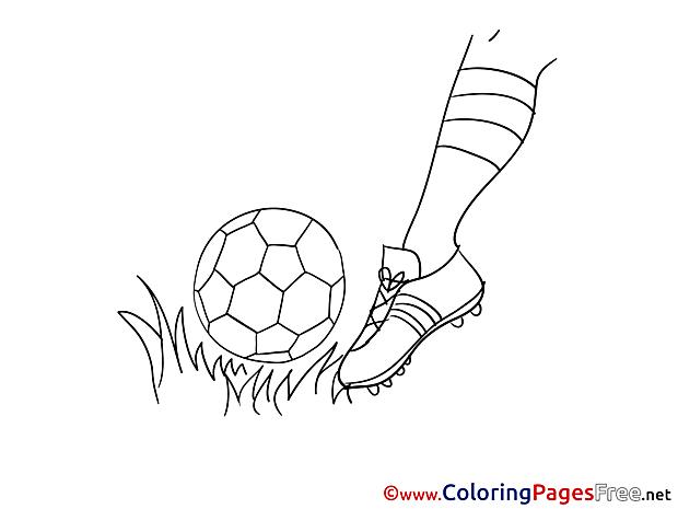 Foot Colouring Sheet Kick download Soccer