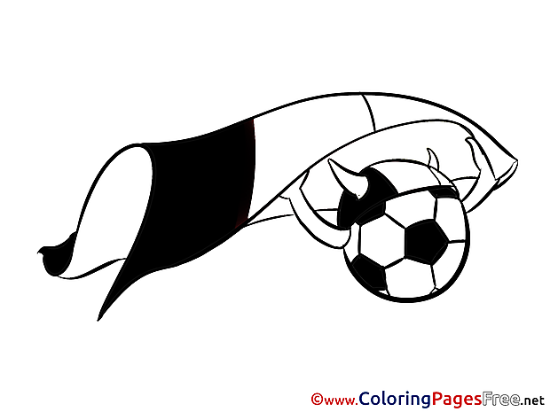 Football Viking Flag Soccer Coloring Pages free