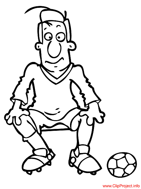 Footballer coloring sheet for free