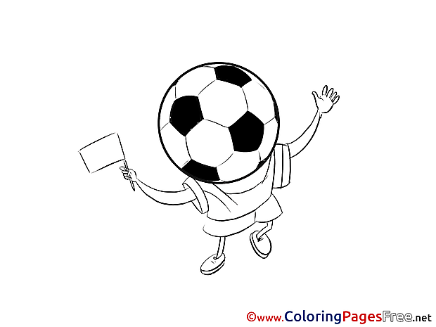 Game Ball printable Soccer Coloring Sheets