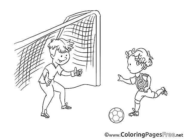 Game Players free Soccer Coloring Sheets