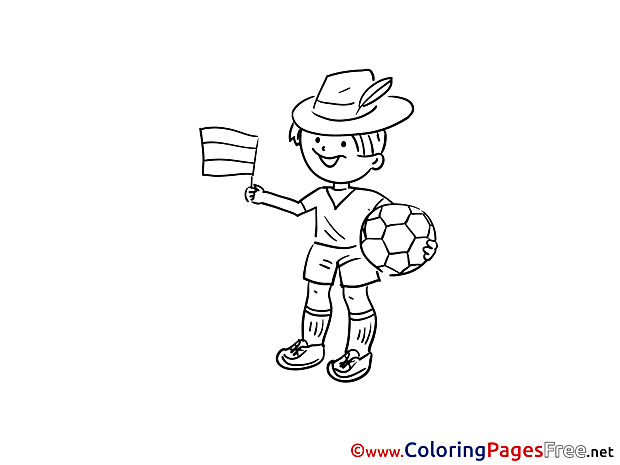 German Footballer Colouring Page Soccer free