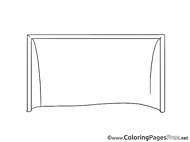 Goal Soccer Coloring Pages download