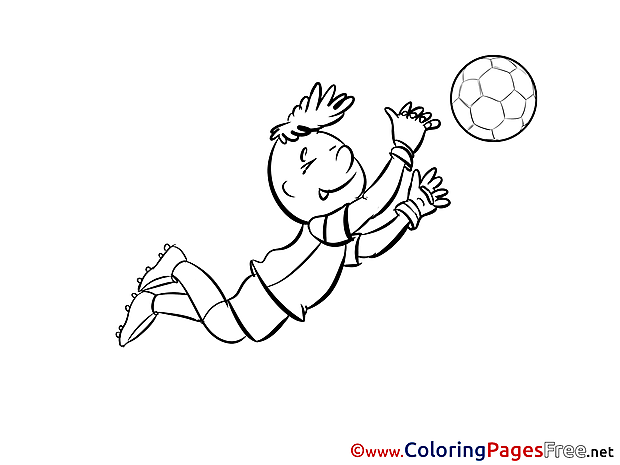 Goalkeeper Children Soccer Colouring Page
