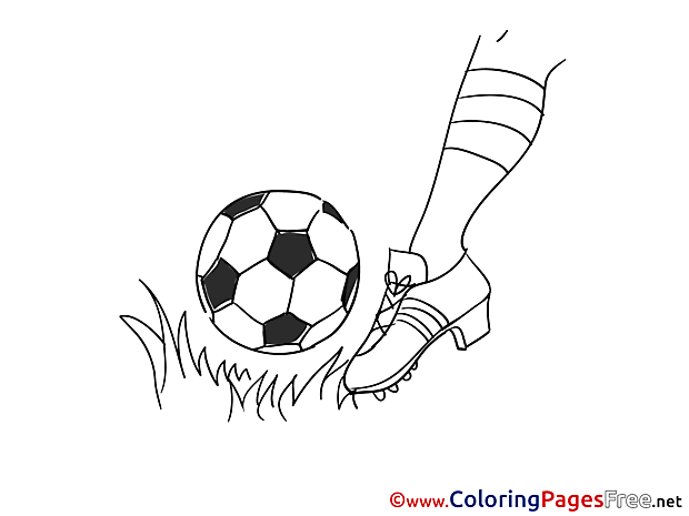 Grass Foot Ball download Soccer Coloring Pages