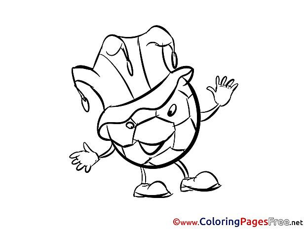 Hat Ball Soccer Coloring Pages free