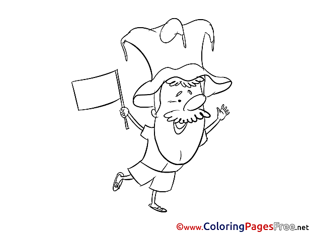 Hat Supporter free Soccer Coloring Sheets